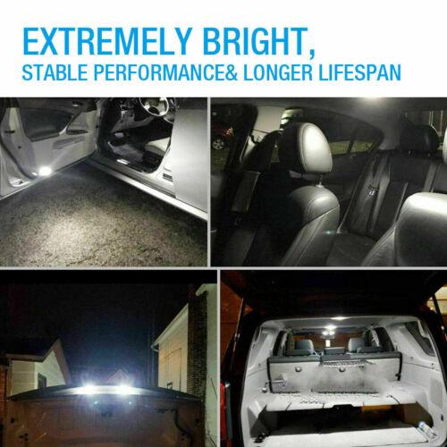 10Pcs T10 LED Car License Plate Lights Bulbs 6000K Bright White 168 2825 194 A+