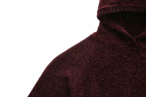 Men/'s Chenille Hooded Pullover Sweater Ultra Soft Cozy 100/% Polyester