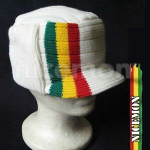 Roots Reggae Beanie Knit Cap Hat Kufi Rasta Surfer Hawaii Jamaica ... 832c391849c8