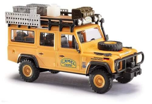 """NEU! Busch 1:87 50373 1989 Land Rover Defender /""""Camel Trophy Deutschland/"""""""