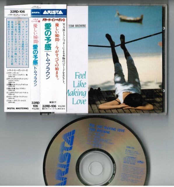 be7d5ec8b6 Tom Browne Feel Like Making Love Japan CD 32rd-106 W/obi 1987 Issue ...