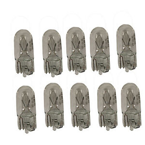10-x-501-CAPLESS-CAR-AUTO-BULBS-12V-5W-PUSH-IN-WEDGE-SIDE-LIGHT-INTERIOR-QTY-10