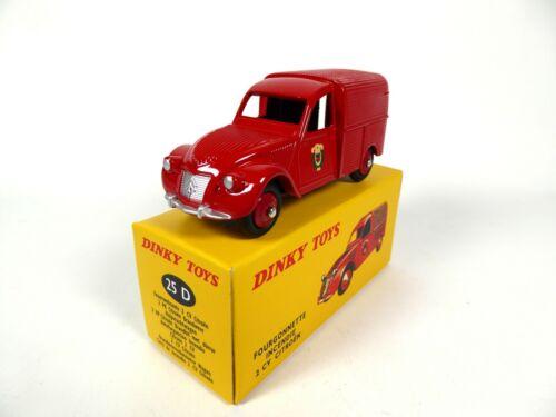 1:43 DINKY TOYS MODELLAUTO CAR 25D Citroën 2CV Feuerwehrauto