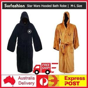 Star Wars Hooded Bath Robe Jedi Knight Sith Logo Bathrobe Cloak Cape ... de4e0c418