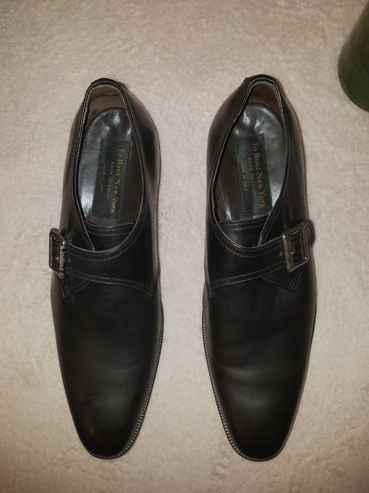 To Boot  New York Adam Derrick Emmett Monk Strap shoes black size 11.5  395