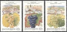 Hungary 1997 Wine Making/Alcohol/Drink/Grapes/Plants/Buildings 3v set (n45534)