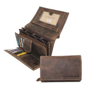 HAROLD-S-Damen-Leder-Geldboerse-Portemonnaie-Geldbeutel-Vintage-braun-BS0