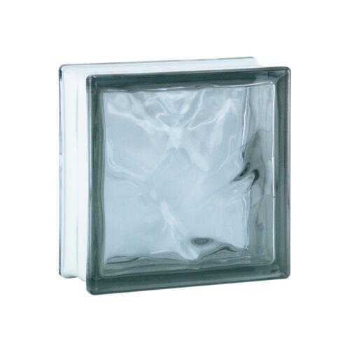 1 Paket = 6 Stück Glasbausteine Glasbaustein Glassteine WOLKE GRAU 19x19x8cm