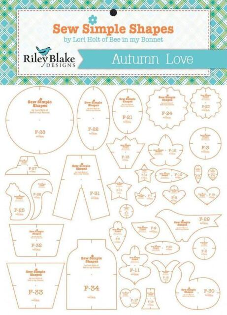 Autumn Love Sew Shapes 34 Templates Lori Holt Bee In My Bonnet