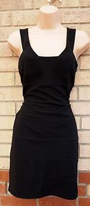 FLORENCE-FRED-BLACK-STRIPE-BANDAGE-BODYCON-TUBE-PENCIL-PARTY-DRESS-8-S