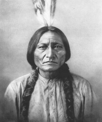 A0 SIZE for glass frame  INDIAN CHIEF SITTING BULL poster PRINT PHOTO