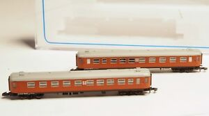 FR-Z-scale-SJ-litt-B-passenger-cars-two-each-2nd-class-Swedish-RR-Freudenreich