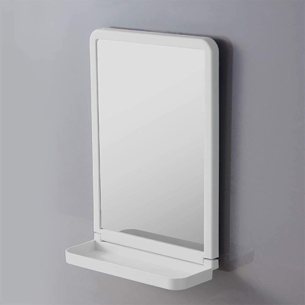 ESPEJO PVC 30x20x9CM CON VENTOSA, con estante, gancho adhesivo de instalación