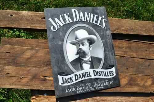Jack Daniels Cameo Portrait Tin Metal Sign Old No 7 Tennessee Whiskey Retro