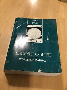 1998 FORD ESCORT COUPE SERVICE SHOP REPAIR MANUAL & WIRING ...