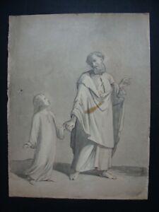 dessin ancien école française 19e suiveur Ingres