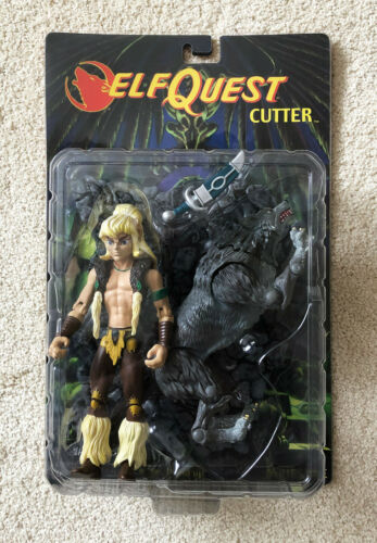ELFQUEST 2001 Art Asylum Action Figure CUTTER mint in box SIGNED by W/&R Pini