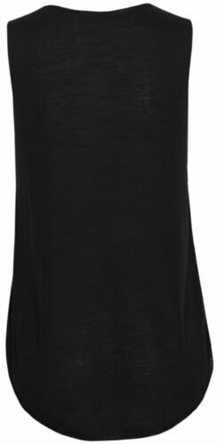 Womens Ladies Sleeveless Comic Micky Finger Print Texture T Shirt Tank Vest Tops