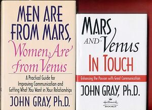 2 John Gray books: Men Are From Mars & Mars and Venus in ...