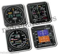 Trintec 4pc Acrylic Coaster Set 4 Aircraft Instrument Coasters