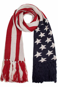 ScarvesMe-Patriotic-Knit-Warm-Cozy-American-Flag-Striped-USA-Tassel-Oblong-Scarf
