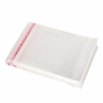 200Pc Clear Cellophane Cello Display Bags Self Adhesive Seal OPP Plastic 14X8CM
