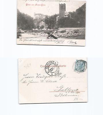 Treu b96161 Ansichtskarte Bozen Gries 1900 Nach Gablonz