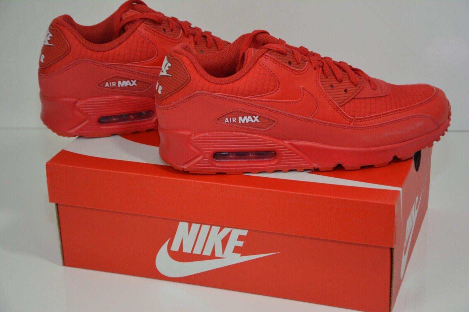 HERREN Nike Air Air Air Max 90 Essential Rot d.G 41 UK7 US8
