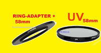 Ring Adapter + Uv Filter For Fuji Finepix S8650 S8630 58mm/ring For Filters Only