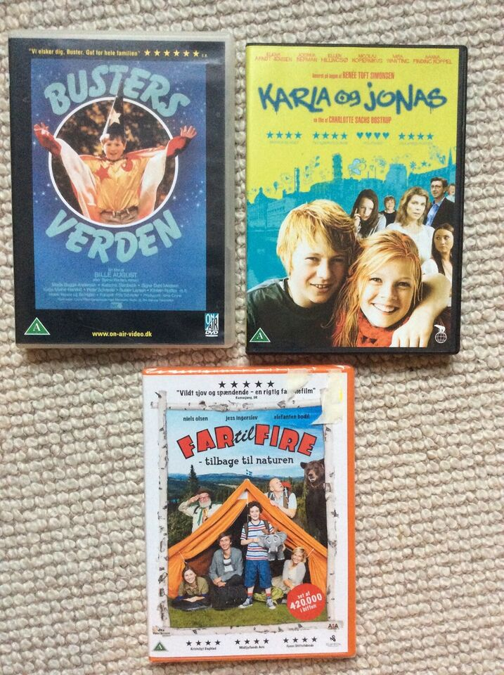 3 fine børnefilm, DVD, familiefilm