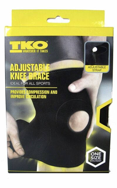 ba75888db9 TKO Adjustable Knee Brace For All Sports One size Fits Most 1 Knee-Sleeve