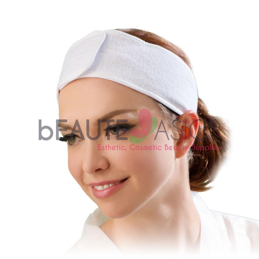 "Terry Headbands Salon Spa Facial Hairband Not Disposable AH1005x1 3/"" wide"