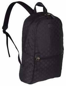 Details about New Gucci 449181 Black Nylon GG Guccissima Slim Backpack  Rucksack Travel Bag