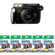 Fujifilm Fuji Instax 210 Wide Instant Film Camera, Black + 100 Prints Film