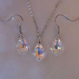 Image Is Loading Swarovski Elements Crystal In Aurora Borealis Pendant Necklace