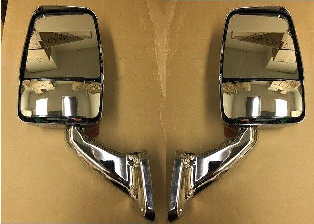 velvac rv motorhome chrome mirror set no turn signal w/ wire kit & switch  713806 for sale online | ebay