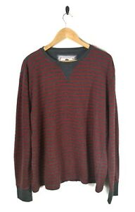 Mens-FAT-FACE-Striped-Jumper-Sweater-Sweatshirt-Cotton-Red-Grey-Size-Large