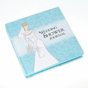 Bridal Shower Gift Record Book : ... about Blue Hardcover Memory Keepsake Wedding Shower Journal Book
