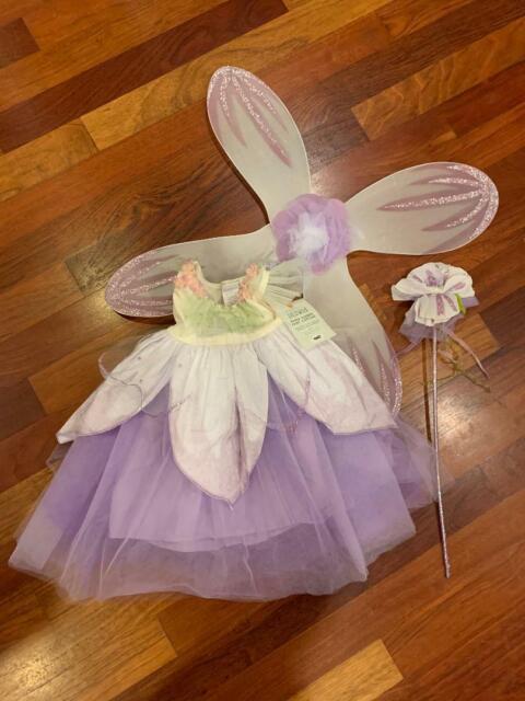 Pottery Barn Kids Paper Flower Fairy Costume 3t New 4