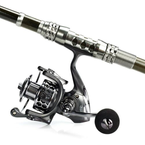 Fishing Rod Telescopic With Spinning Reel Pole Combos Kit With Easy Travel Bag