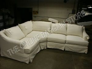 Pottery Barn 3 Pc Belgian Right Loveseat Wedge Left Chair