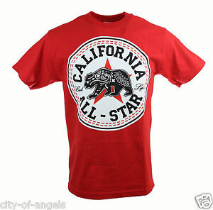 California-All-Star-Men-039-s-T-Shirt-Multiple-Colors