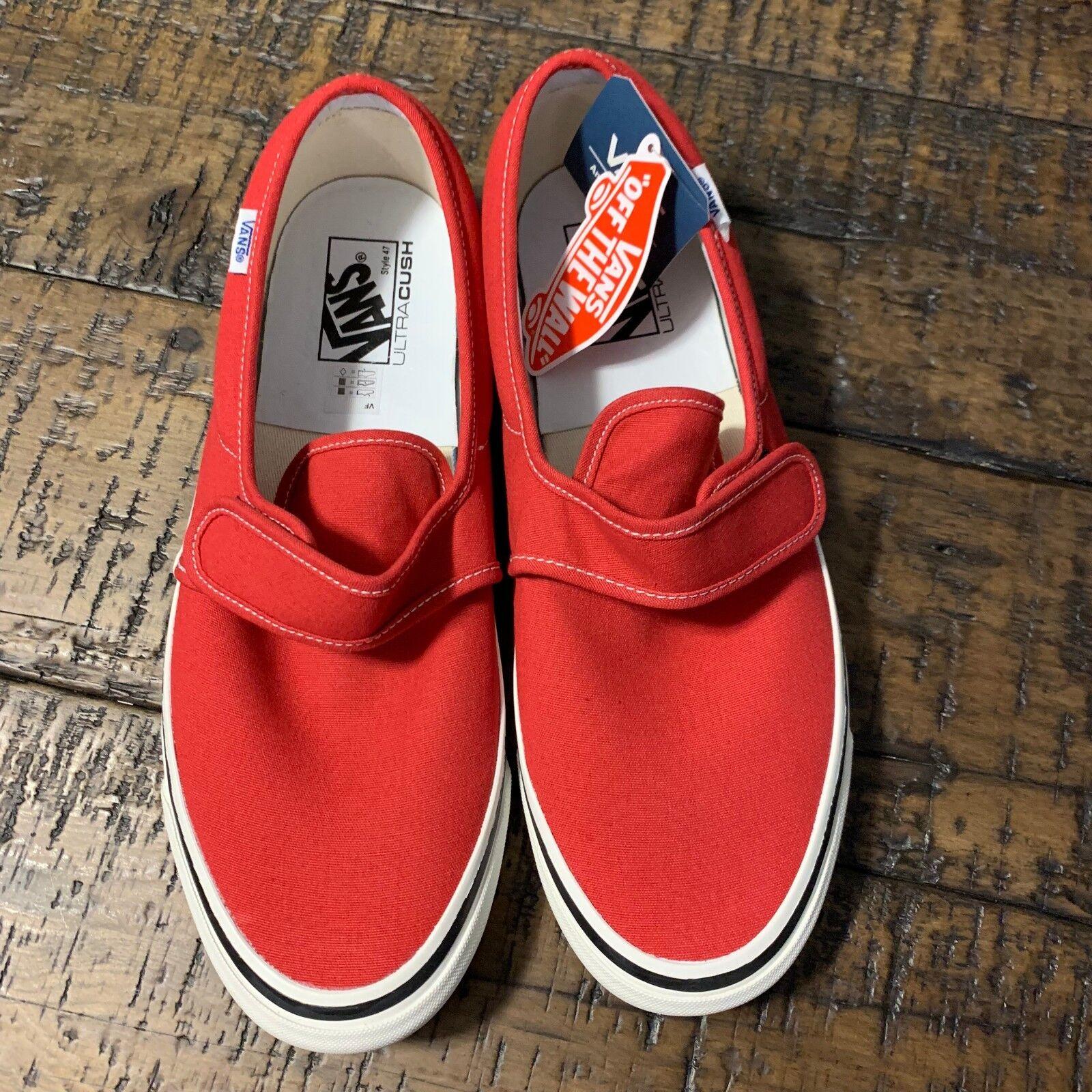 Vans Slip-On 47 V DX (Anaheim Factory) OG Red NIB Size US Men's 11 VN0A3MVAR3V
