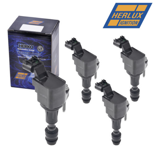 Set of 4 Herko B062 Ignition Coils For Chevy Pontiac Saturn 2.0L 2.4L 2007-2016