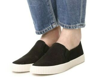 FRYE Black Camille Perforated Slip On
