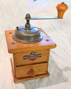 Vintage German wooden coffee grinder Kym