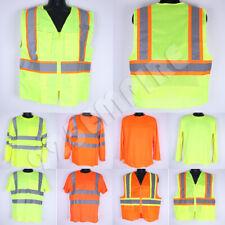 Work Vest Hi Vis High Visibility Safety Longshort Sleeve T Shirt