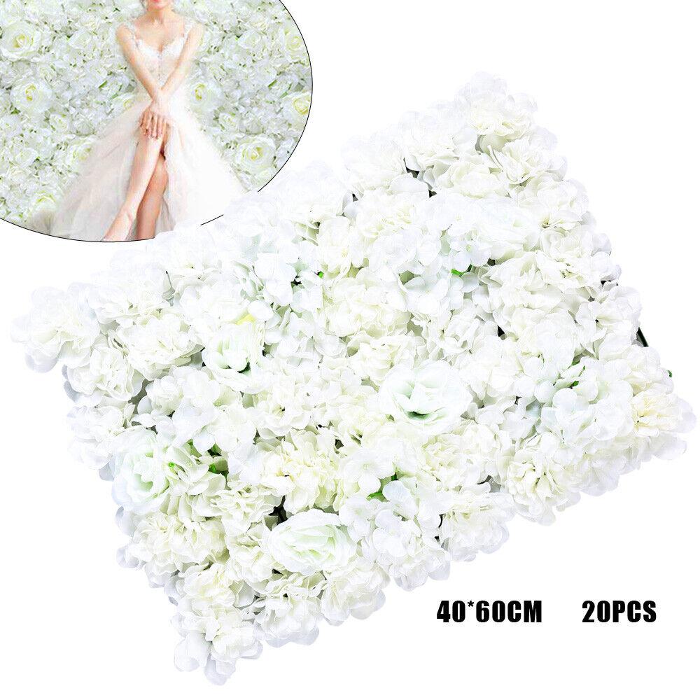 20Seidentuch Künstliche Blaume Wand paneele Hochzeit Dekor 40x60cm KunstBlaumen