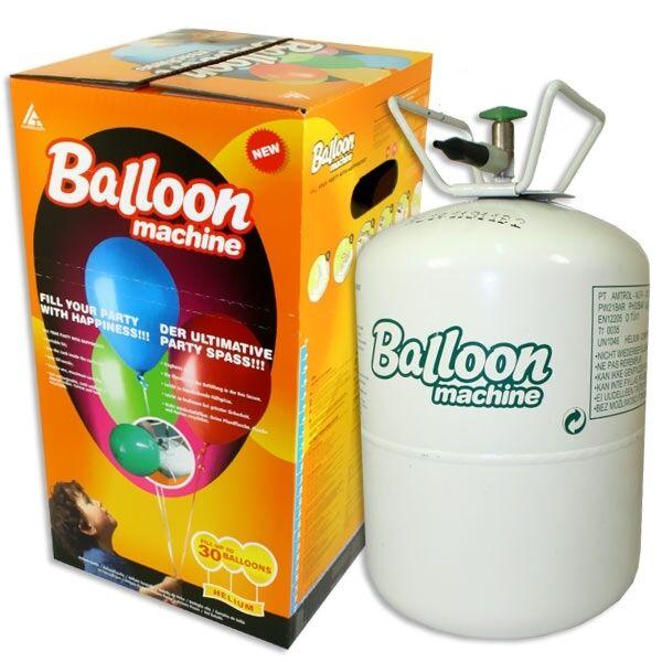 Helium Ballongas Flasche für bis zu 30 Ballons, mit grünen Punkt