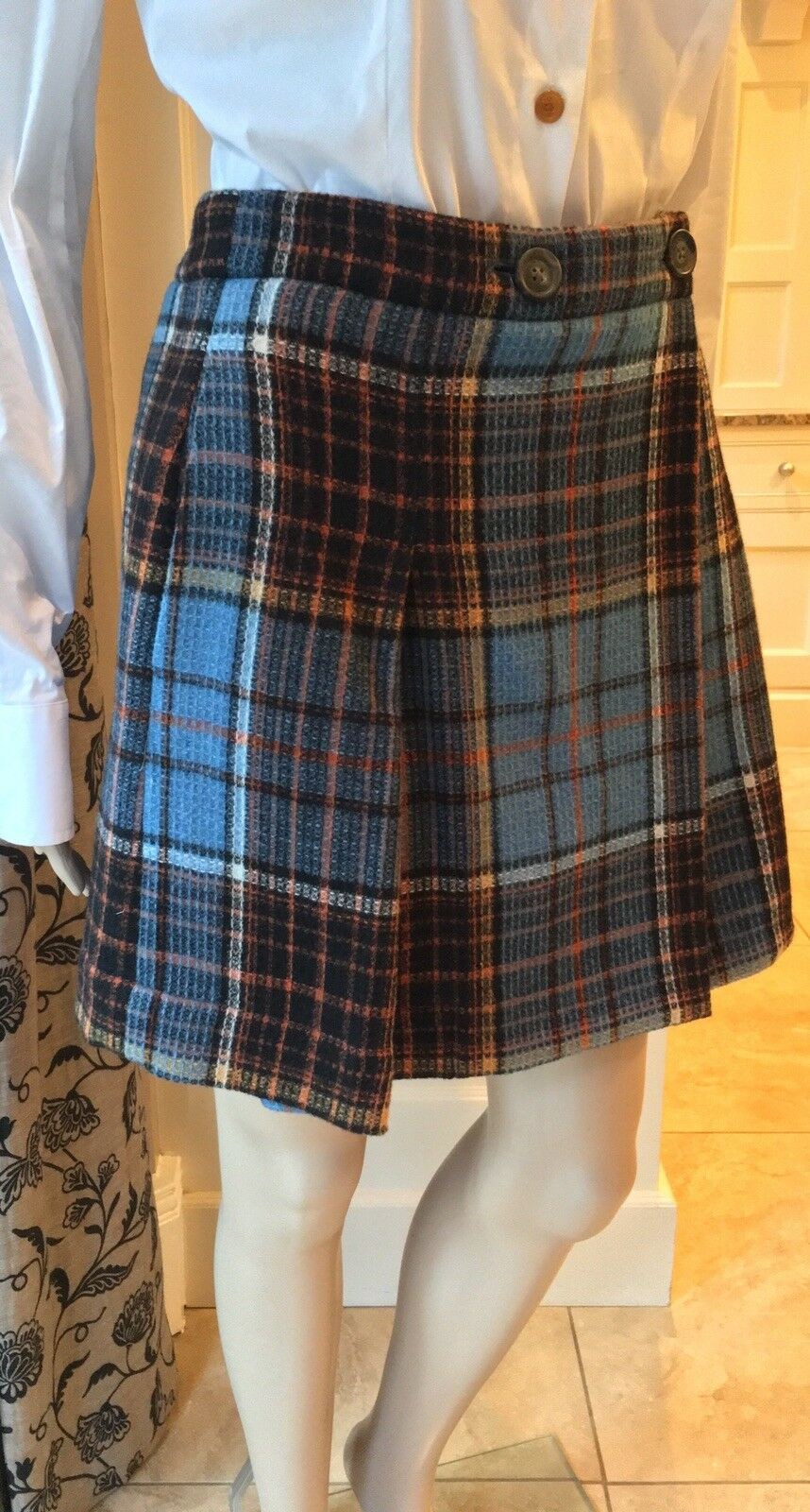 Vivienne Westwood  Anglomania Anglomania Anglomania  KALLAS Kilt Gonna in Tartan Check 42 UK10 1d5837